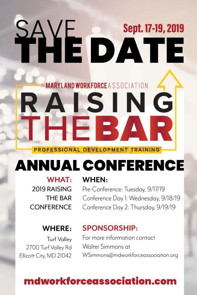 Save The Date Raising The Bar 2019